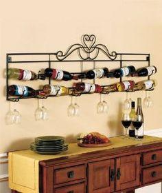 metal wine decor   home kitchen kitchen dining storage organization wine racks