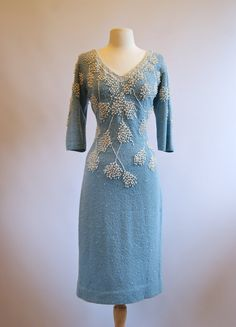 Vintage 60s Beaded Knit Cocktail Dress by Gene by xtabayvintage