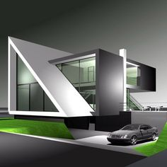 House Outer Design, House Outside Design, House Front Design, Small House Design, Architectural Design House Plans, Modern Exterior House Designs, Modern House Plans, Modern House Design, Container Home Designs