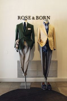 Rose & Born Stockholm pinned by Ton van der Veer Clothing Store Displays, Clothing Store Design, Store Window Displays, Mens Fashion Blog, Best Mens Fashion, Suit Fashion, Shopping Stockholm, Visual Merchandising Fashion, Boutique Interior Design