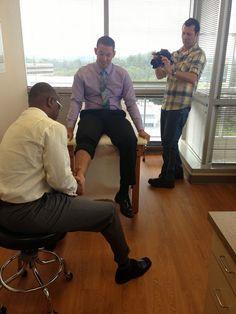 Behind the scenes at Dr. Erroll Bailey's bio video shoot!