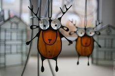 Goofy deer ornaments