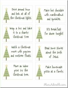 Free Printables - 24 Advent Calendar Ideas to do with your family.and I like the Christmas tree advent idea Noel Christmas, Merry Little Christmas, Christmas Countdown, Winter Christmas, Family Christmas, Christmas Activities, Christmas Printables, Christmas Projects, Christmas Ideas