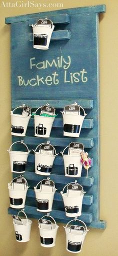 How to DIY a family bucket list with dollar store and thrift shop finds.