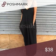 BLACK BOHEMIAN STYLE MAXI! •long MAXI dress •super comfortable •baggy fit •also available in Gray ••••(Shown in gray to show texture) **** 💋👠AVAILABLE IN 2x, 3x, 4x!!!! MATERIAL: COTTON, POLYESTER, SPANDEX ⚫️AMAZING QUALITY -- NOTE::: this is high quality and thick material!!! ⚫️longer shipping for Some PLUS sizes Dresses Maxi