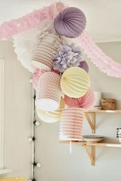 Pastel Party Decor Ceiling | Cute Decoration Girly
