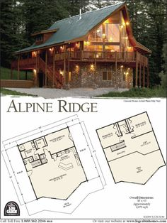 Log Home Plans from Top Log Home Companies. Just like the ones at Mable lake The Plan, How To Plan, Plan Plan, Log Home Plans, Log Cabin Floor Plans, Barn Plans, Log Cabin Homes, Log Cabins, Mountain Cabins