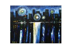 CHICAGO abstract Gicle Canvas Print Abstract #art #print #giclee @EtsyMktgTool http://etsy.me/2ijl9aI