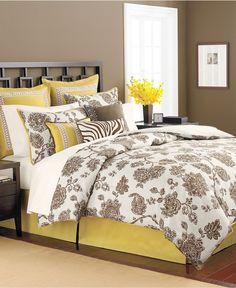 Macy's - Martha Stewart Collection Bedding, Rose Charmont 9 Piece King Comforter Set