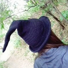 Witch hat Black Wizard hat Halloween costume Crochet Winter hat Gandalf hat  Made to order Witch classic hat Photo prop Halloween accessory 5d73a0914