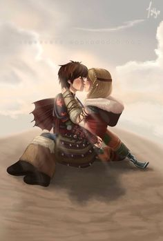 How to train your dragon <3 Hiccup+Astrid