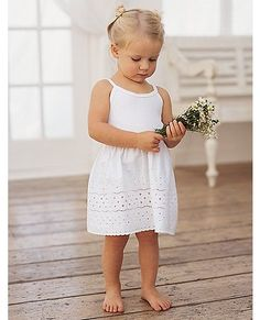 Pure Cotton Eyelet Slip | Girls Underwear