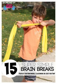 Brain Breaks - Do you know a child who gets antsy after sitting a long time? Is homework or seated work a chore? Brain Break Exercises are the perfect fit for your active learner!