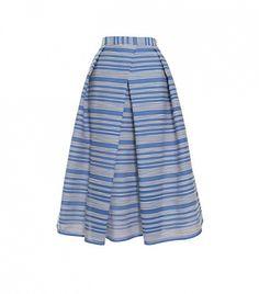 Raffia Organza Stripe Skirt