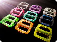 1 Pair Fixie Parts Fixed Gear Urban Bike Bicycle Platform Pedals strength plastic made