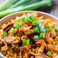 This spicy Crawfish Jambalaya is easy to make and will bring a taste of Louisiana to your kitchen. Can be made with shrimp instead. Seafood Jambalaya, Slow Cooker Jambalaya, Crawfish Recipes, Cajun Recipes, Seafood Recipes, Cooking Recipes, Sausage Jambalaya, Dinner Recipes, Meals