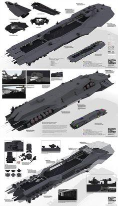 Planetside 2 - Bastion Fleet Carrier by ukitakumuki Spaceship Art, Spaceship Design, Arte Sci Fi, Sci Fi Art, Planetside 2, Starship Concept, Space Engineers, Sci Fi Spaceships, Capital Ship