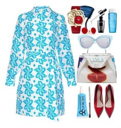 """""""Diane Von Furstenberg taffy shirtdress"""" by thestyleartisan ❤ liked on Polyvore"""