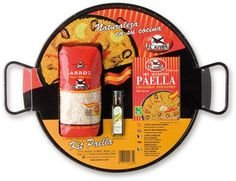 Paella Kit with Polished Pan Spanish Paella, Cooking Supplies, Kit, Spices, Chefs, Gift Ideas, Products, Rice, Rice Pack