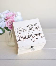 Rustic Guest Book Alternative Box Advice For The Bride and Groom NEW 2014 Design by Morgann Hill Designs on Etsy, $56.81 AUD