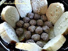 Easy Slow Cooker Meatball Casserole
