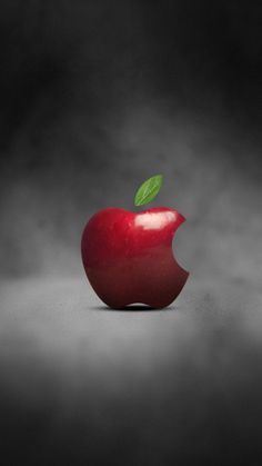 ↑↑TAP AND GET THE FREE APP! Food Apple Simple Red Gray Cool Art HD iPhone 6 Wallpaper