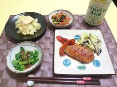 ⭐キャベツの煮びたし⭐人参とひじきのきんぴら⭐菜の花の酢味噌和え⭐キャベツとひらたけのアンチョビ炒め⭐鮭のバルサミコ酢ソテー