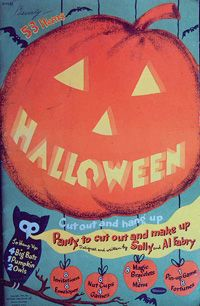 "Vintage Halloween Book ~ ""Halloween Cut Out and Hang Up Booklet"" by Whitman Publishing Co. ©1953"