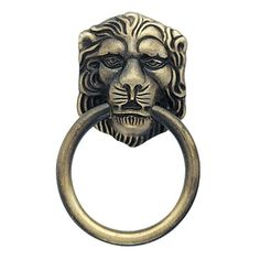 "Amerock 888ABS Allison Value Hardware Collection 1-1/2"" Lion Head Pull - Antique Brass (Cabinet Pulls)"