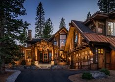 luxury log cabin homes mountain cabin style home rustic Chalet House, Ski Chalet, Style At Home, Forest Cabin, Rustic Exterior, 3d Home, Mountain Homes, Mountain Cabins, Mountain Living