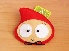 Little Anly Red Riding Hood Purse by lovelia on Etsy