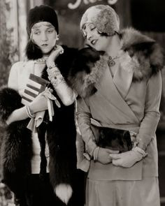 Ruth Taylor and Alice White in the lost film Gentlemen Prefer Blondes, 1928