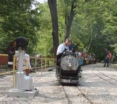 The Wabash, Frisco, and Pacific Association invites you to come aboard our 12 inch gauge live Steam Railroad! The ride is a two mile round trip lasting about 40 minutes and travels along the scenic. Mini Steam Engine, Kids Out And About, Steam Railway, Round Trip, Train Rides, St Louis, Missouri, Places To Go, Solomon