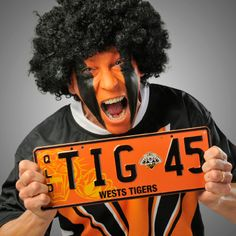 Pounce on a Wests Tigers Personalised Plate from PPQ and show your support for your team Wests Tigers, Personalised Number Plates, Logo Design, Graphic Design, Great Love, South Wales, Football, Australia, Logos