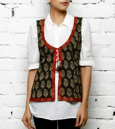 Shirt style kurta with coaty