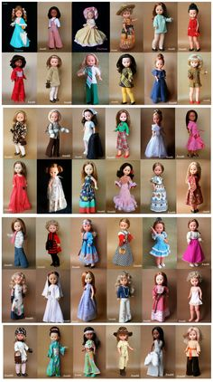 Girl Doll Clothes, Sewing Clothes, Vestidos Nancy, Nancy Doll, Spanish Girls, American Girl Crafts, Holly Hobbie, Kokeshi Dolls, Barbie And Ken