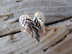 Angel wings ring in sterling silver by Billyrebs on Etsy, $35.00
