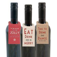 30 Pc Wine Bottle Tag Asst Includes 3 Designs