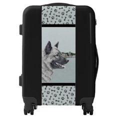 Shop Norwegian Elkhound at Village Painting - Dog Art Luggage created by alpendesigns. Dog Paintings, Original Paintings, Original Art, Norwegian Elkhound, Custom Luggage, Cardigan Welsh Corgi, Doberman Pinscher, Australian Cattle Dog, Dog Art