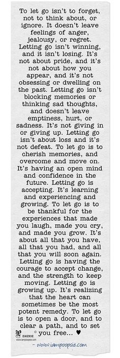 Letting go is finding the strength to hold on...this has been my mantra. This quote can easily define me.
