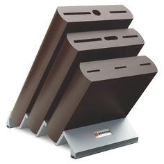 MESSERBLÖCKE - Gut geschützt und immer griffbereit bewahren Sie Ihre Messer im Holzblock auf. Ein Blickfang in jeder Küche. Aus hochwertiger Buche. Mit mattiertem Fuß aus Aluminium. Für 9 Teile.