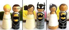 Batman and Catwoman Superhero Wedding Cake