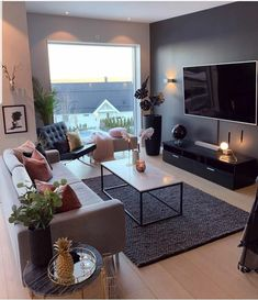 New living room design ideas for apartment interior design 13 Warm Home Decor, Living Room Decor Cozy, Living Room Paint, Home Living Room, Living Room Designs, Living Room Interior, Cozy Living, Comfortable Living Rooms, Apartment Interior