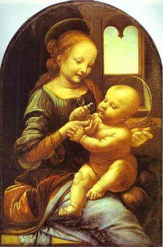 """Madonna Benois"", oliio di Leonardo Da Vinci (1452-1519, Italy)"