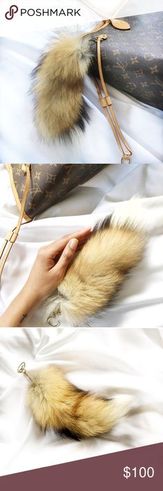 "Fur Foxtail Bag Charm Authentic. Purchased from a Native American boutique in Connecticut. Real fox fur w/gold tone hardware. Measures: 10""L, 2-5"" wide. Can use as a bag charm or keychain. *I personally style all pics* NO TRADES EVER!! Bundle &save even more✅ Boutique Accessories Key & Card Holders"