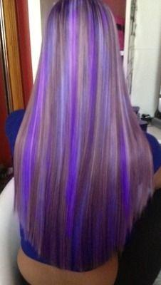 mechas purpura y lila