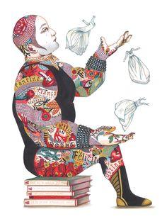 03_le colosse - Illustrations du livre Saltimbanques_Thierry Magnier_2011