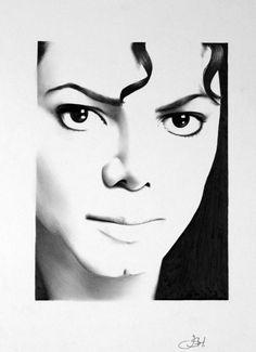 Michael Jackson Portrait Bleistift Zeichnung Fine Art Print handsigniert von Künstler