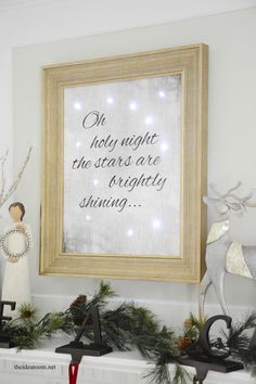 Lighted Christmas Sign - The Idea Room