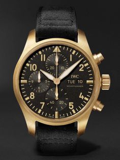 """*Blog Update - Read iN!* #IWC 41mm Pilot's Watch Chronograph """"10 Years of Mr Porter""""🎩 ⌚️Made iN Bronze * xxx/110 Limited Edition…🎉"""